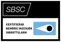 Certifierad behorig ingenjor inbrottslarm